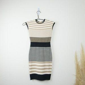 Torn By Ronny Kobo Victoria Striped Bodycon dress